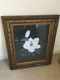 Framed art, magnolia
