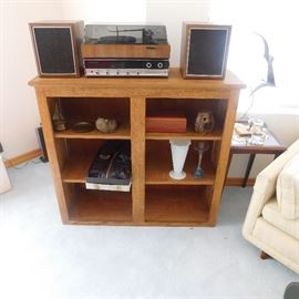 vintage Panasonic shelf stereo and record player
