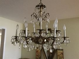 Chandelier shown with lights off