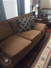 3 Cushion Sofa, Matching 2 cushion Love couch, and matching recliner