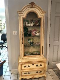 Painted French Provential Cabinet Item #