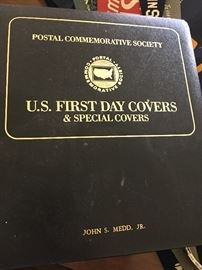 A small example of the several full books of First Day Cover collections.