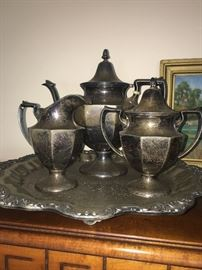 Gorgeous sterling tea set.