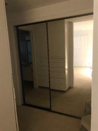 """have 2 sets of 2 doors-Brass framed mirrored closet doors.   Excellent condition.   Each door is 36""""x79"""""""