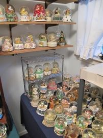 Three hundred snow globes, all musical. $1. each on Thursday!!