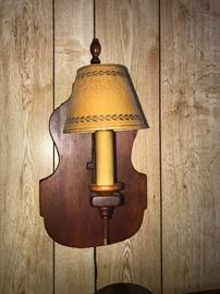 One of 3 Cushman Fiddle Back Sconce lamps