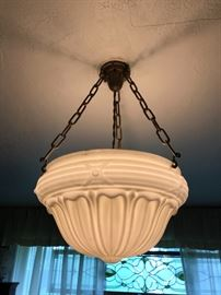 Original Art Deco Hanging Light