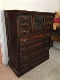 Walnut side lock dresser. It's missing the gallery element.