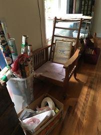 Oak Morris Chair