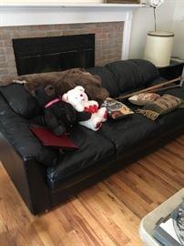 Overstuffed sofa