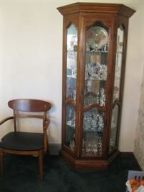 China Cabinet with Crystal!