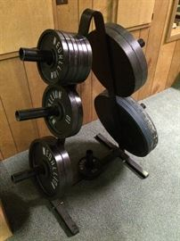 Set of free weights.