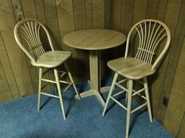 The second set of bar stools w/pub table.