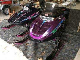 Polaris Indy 500 snowmobile & Polaris 600 XCR snowmobile.