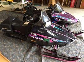 Polaris 600 XCR snowmobile.