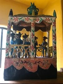 Many colorful pieces of folk art