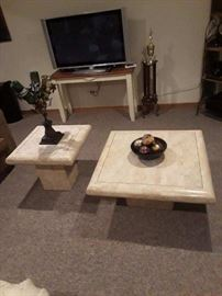 Marble Coffee Table and Side Table