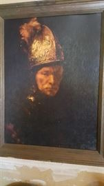 "Framed print- Rembrandt's ""The Man With the Golden Helmet"""