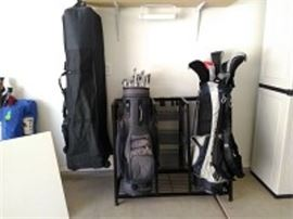 Golf Clubs, Rack & Bag