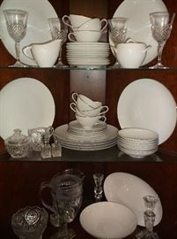 One of several sets of china