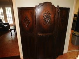 Unique Art Deco oak room divider
