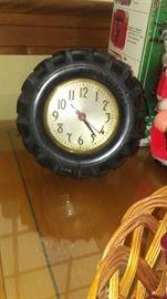 Bruswick Tires electric clock
