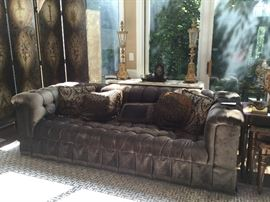 Beautiful Tufted Sofa two available