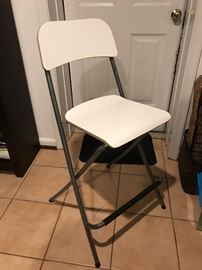 Tall Ikea folding chairs