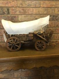 Replica of covered wagon, $8.