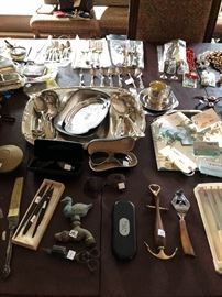 nautical items, fountain pens, duck head faucett, aviator glasses both Marchand and Ray Ban - (Sterling silver is no longer available)