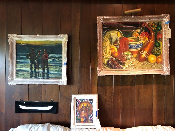 Collection of 2 Willliam Purdy Paintings - (Fisherman sold)