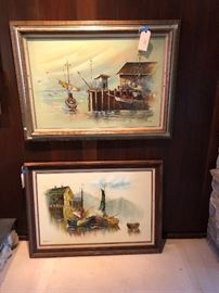 Mid Century water scenes - priced to sell!