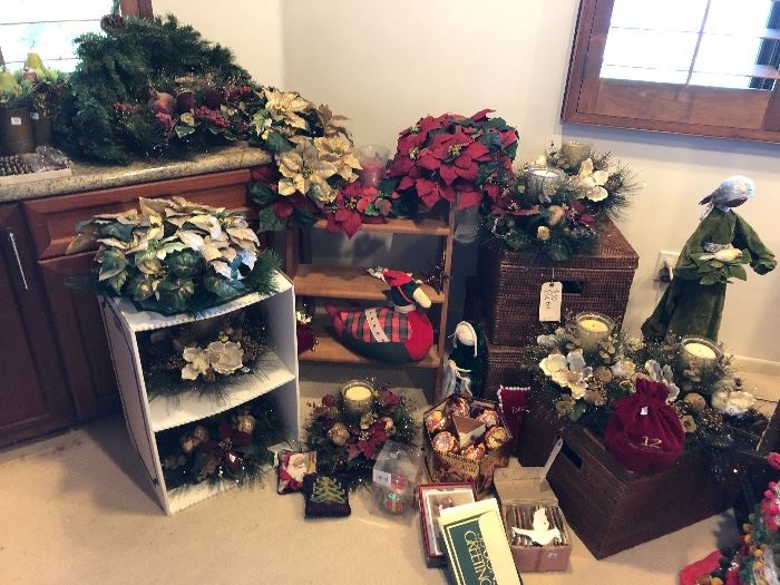 Christmas!  Only a few of the woven baskets are left.