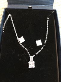 Sterling Silver and CZ - set