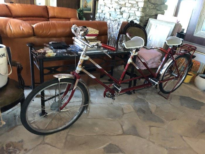 Bicycle Built for 2 - iron table - (most of the other items have sold)
