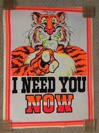 VINTAGE 1960's and 1970's POSTERS - MANY NEW - STILL SEALED !   ESSO GAS TIGER