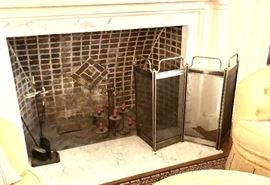 Some of the fireplace accessories -- more in the library.