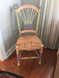 MacKenzie Childs Flower Basket Chair  WOW!