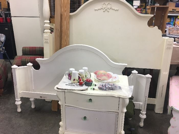 Lexington bed frame and nightstand
