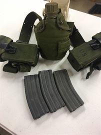 Vintage ammo belt with canteen