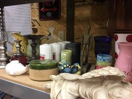 Candles, vases, candle holders