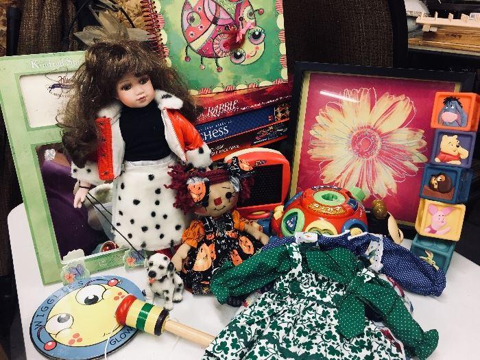 Toys, dolls, games