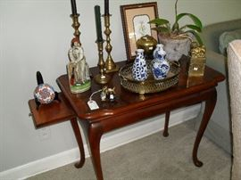 Table with candle stand