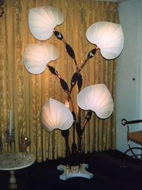 70's Las Vegas Style Fan Floor Lamp