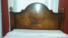 Inlaid headboard of bed