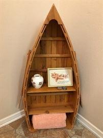 Adorable Canoe Shelf to hold decor