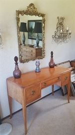 curly maple writing desk... SOLD