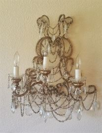 closeup of sconce #2 - these are wired for electricity