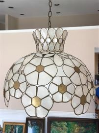 Mother of pearl chandelier