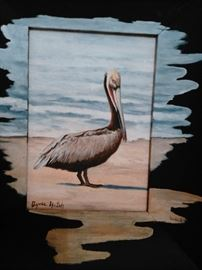 Original oil on canvas extending to frame by South Texas Artist Agnew Hatch